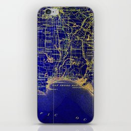San Pedro Bay OLD MAP 1904, united states vintage maps iPhone Skin