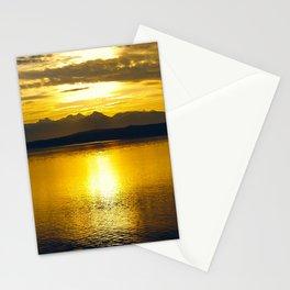 Sunset at Glacier NP Stationery Cards