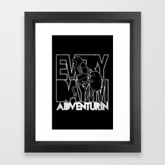 Every Day I'm Adventurin' - Light Framed Art Print