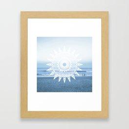 Surf mandala Framed Art Print