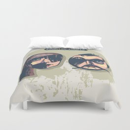 country couple Duvet Cover