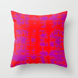 jitter, red violet, 3 Throw Pillow