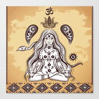 om Canvas Prints featuring om by flamenco72