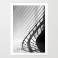 light and shadow - drying rack Art Print