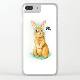 Chinese Zodiac Year of the Rabbit Clear iPhone Case