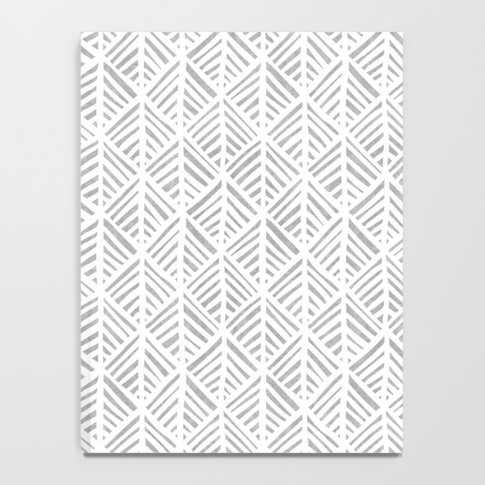Abstract Leaf Pattern in Gray Notebook
