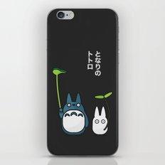 Chu & Chibi Totoro Pop art - Black Version iPhone & iPod Skin