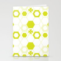 polygon Stationery Cards featuring Polygon by Julianne Chia