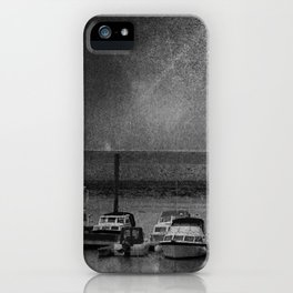 Harbour of Neuharlingersiel lower saxony Germany iPhone Case