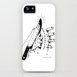 CHOP HERE iPhone Case