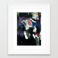 evangelion Framed Art Prints featuring Evangelion Wing by JLEEORIGINALS