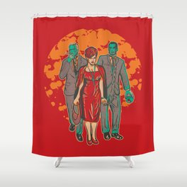 Walking MadMen Shower Curtain