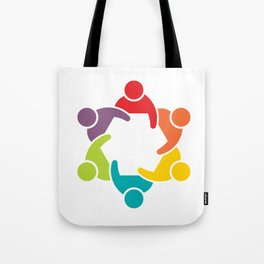 People Group in Meeting. Teamwork Concept Tote Bag