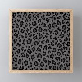 LEOPARD PRINT in Black & Gray / Collection : Leopard spots – Punk Rock Animal Print Framed Mini Art Print
