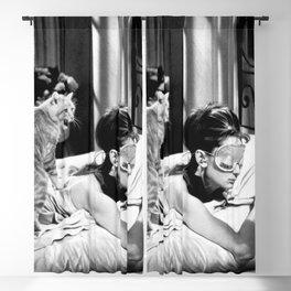Audrey Hepburn - cat Blackout Curtain