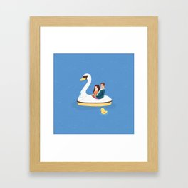 Romantic date Framed Art Print