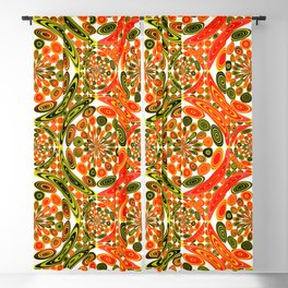 Colorful geometric abstract Blackout Curtain