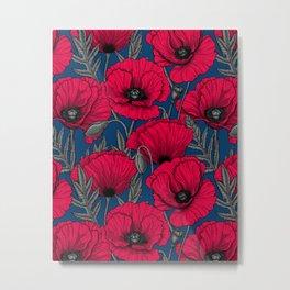 Night poppy garden  Metal Print