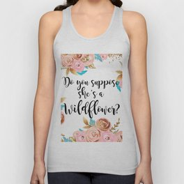 Blush and gold wildflower Unisex Tank Top