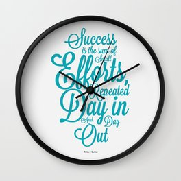 Lab No. 4 - Success is the sum of small efforts Inspire Success Quotes Poster Wall Clock