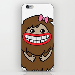 Cute Bigfoot iPhone Skin