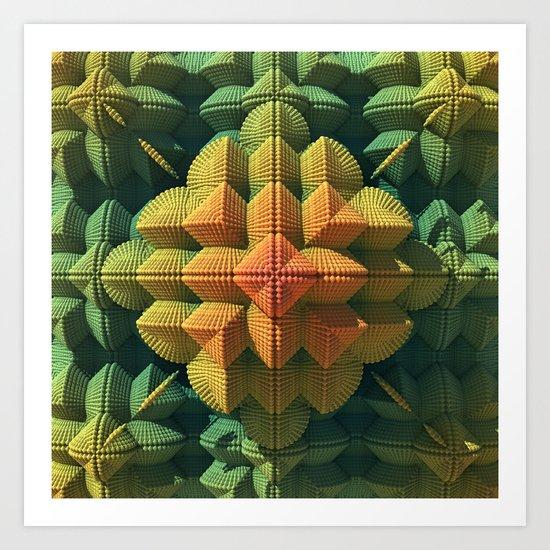 Pyramid Flower Art Print