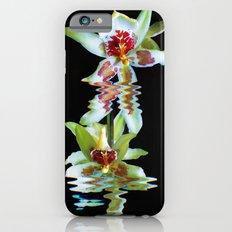 Green flowered Cymbidium Slim Case iPhone 6s
