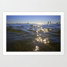 sparkling moments of life Art Print