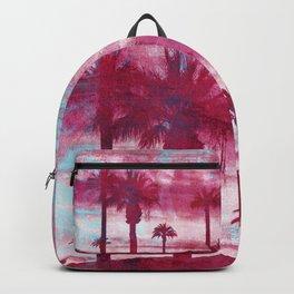 Pacific Island Grunge Look Mixed Media Art Backpack