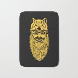 Trapper Wolf Man by www.turbobambi.com Bath Mat