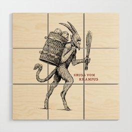 Gruss vom Krampus Wood Wall Art