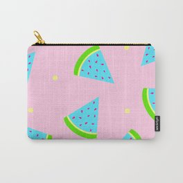 Watermelon in Pastel Neon   Watermelon Seed   Watermelon Home Decor   pulps of wood Carry-All Pouch