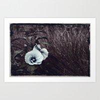 hibiscus Art Prints featuring Hibiscus by KunstFabrik_StaticMovement Manu Jobst
