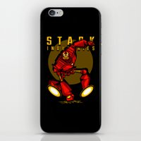 iron giant iPhone & iPod Skins featuring Giant Iron Man by harebrained