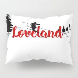 Ski at Loveland Pillow Sham