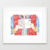 postcard Framed Art Prints featuring Postcard by cristina zavala