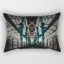 Coney Island Pier Subway Station 2 Rectangular Pillow