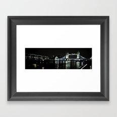 Tower Bridge Panoramic Framed Art Print