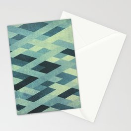 Abstract Pattern in Blue Stationery Cards