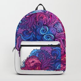 Purple & Blue Indian Mandala Backpack