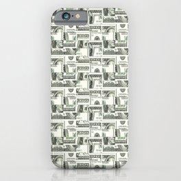 100 Dollar Motif Pattern Design iPhone Case