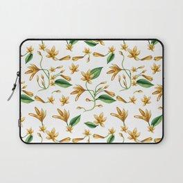 Watercolor vanilla pattern Laptop Sleeve