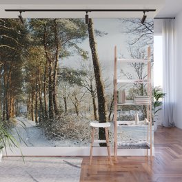 Forest Snow Scene Wall Mural