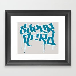 Super Nerd Framed Art Print