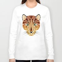 leopard Long Sleeve T-shirts featuring leopard by Manoou