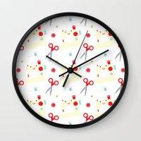 sewing Wall Clocks featuring Sewing fun by Samantha Eynon