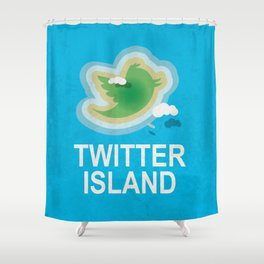 Twitter Island Shower Curtain