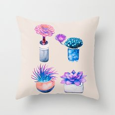 Succulents Cactus pattern Throw Pillow
