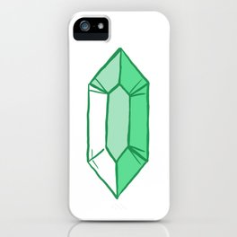 Green Crystal iPhone Case