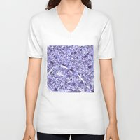 paris map V-neck T-shirts featuring paris map by Bekim ART